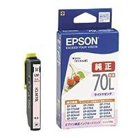 (まとめ) エプソン EPSON インクカートリッジ ライトマゼンタ 増量 ICLM70L 1個 【×4セット】