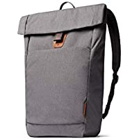 """Bellroy Studio Backpack, Everyday Bag, Water-Resistant Fabric, Magnetic Clasp Flap Closure (18 liters, 15"""" Laptop) - Mid Grey"""