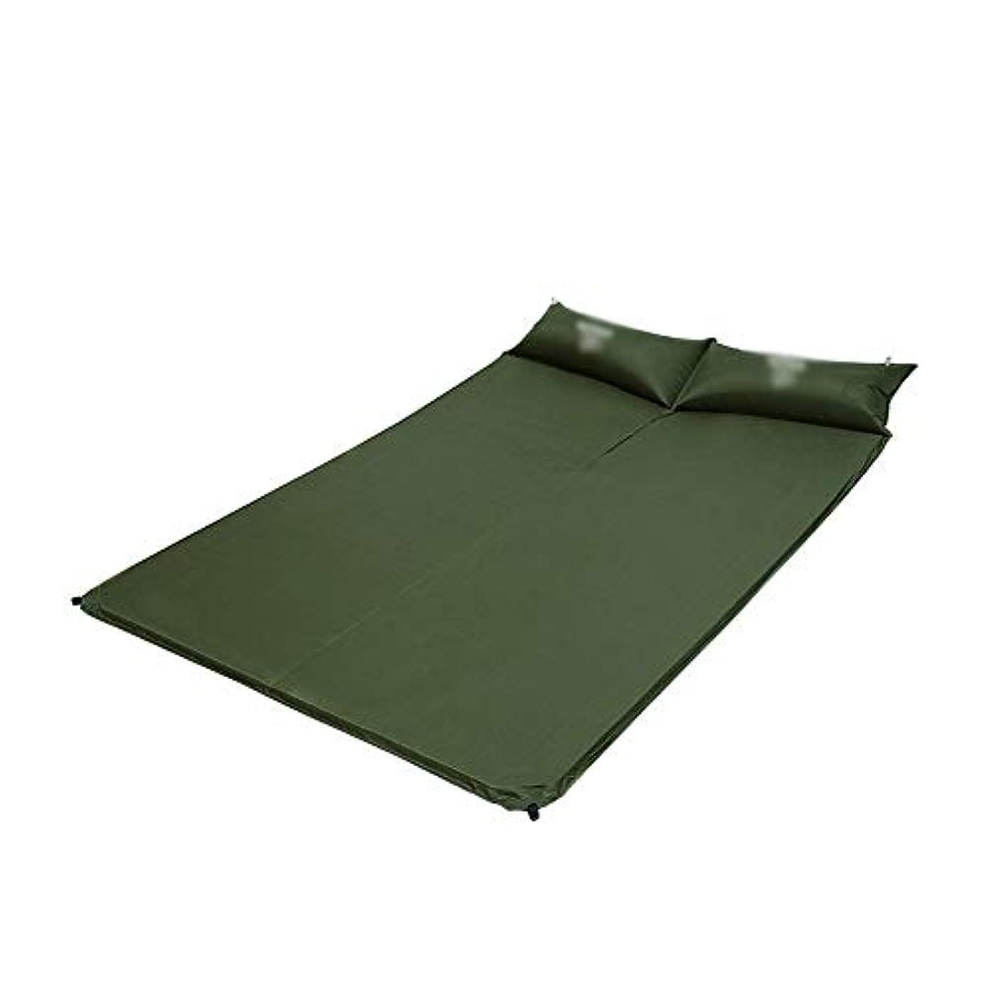組立傾向があります概念190×130×2.5センチ二重寝台マットマットレス自己膨張パッド付き2インフレータブル枕用キャンプテントビーチ