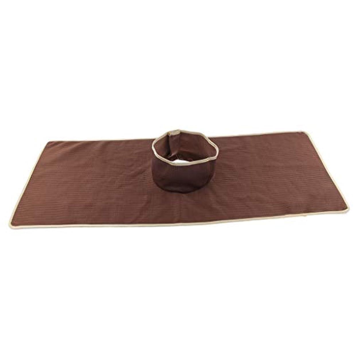 大声でプレゼン補足Baoblaze マッサージテーブルカバー シート パッド 顔の穴付き 再使用可能 約90×35cm 全3色 - コーヒー