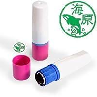 【動物認印】シャチ ミトメ1 ホルダー:ピンク/カラーインク: 緑