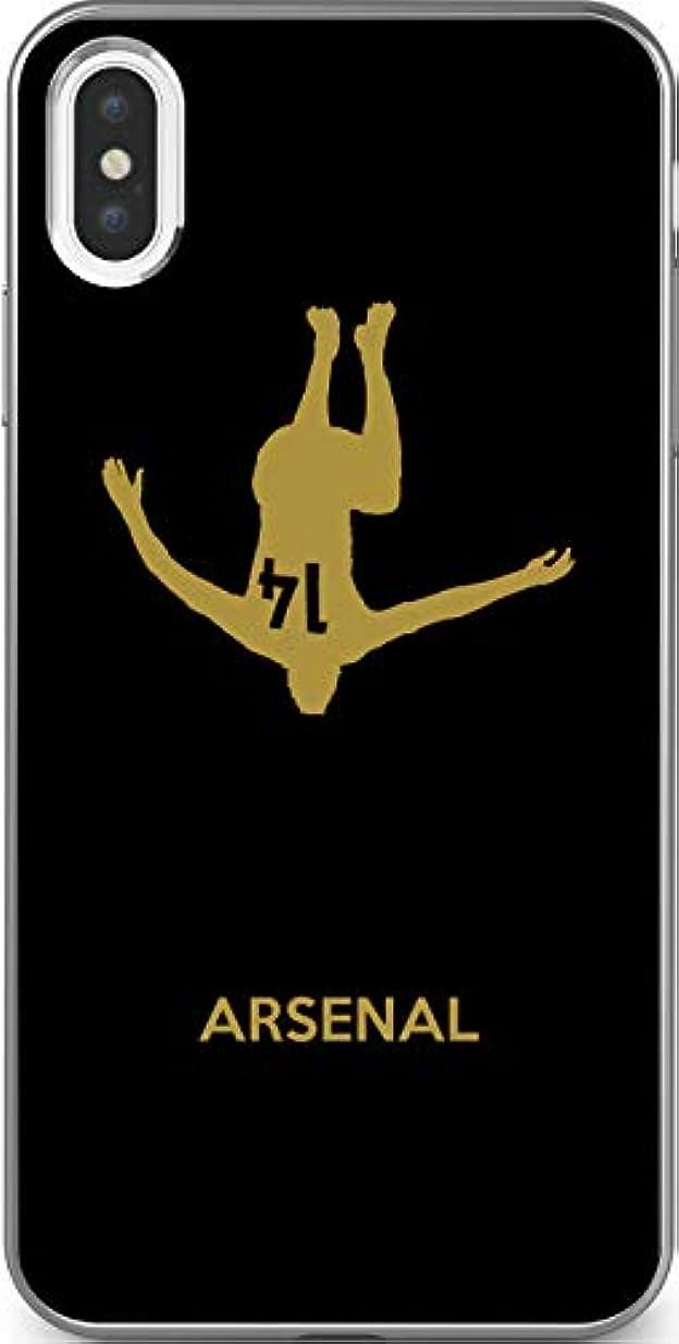 不承認従事する鯨サッカー iPhone Xperia Galaxy Android シルエット スマホケース カバー(ゴールド×ブラック/アーセナル:14番_A) 23 docomo Xperia XZs(SO-03J)