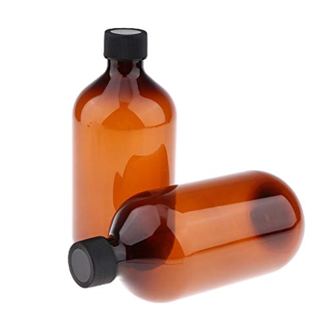 そんなにコンバーチブルクラシックToygogo 全2色 ローションボトル シャンプーボトル 遮光瓶 空ボトル UV保護 遮光ボトル 500ml - 茶色