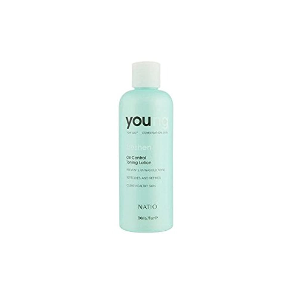 Natio Young Oil Control Toning Lotion (200ml) (Pack of 6) - 若いオイルコントロールトーニングローション(200ミリリットル) x6 [並行輸入品]
