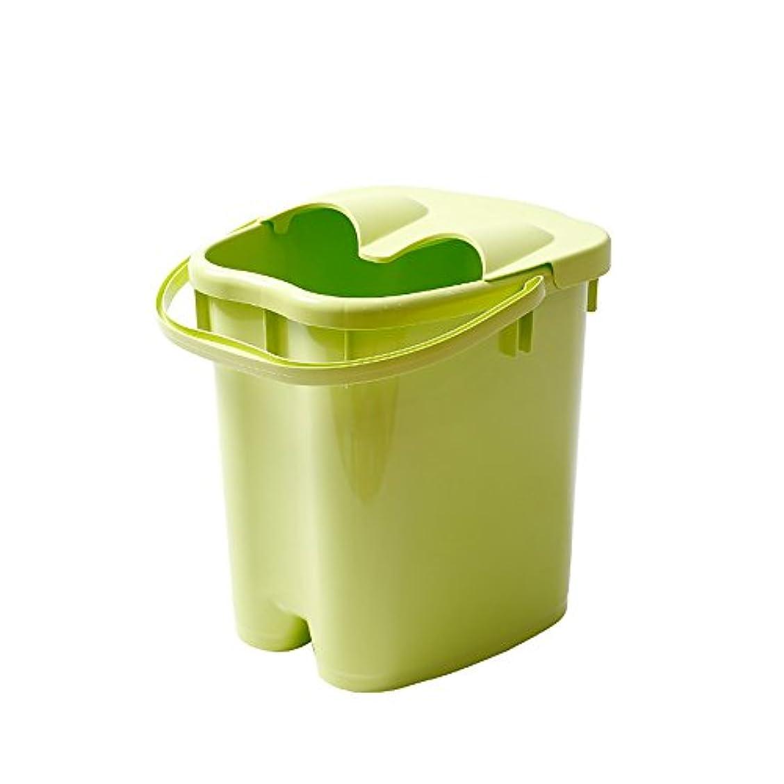 トレーダー個人落とし穴フットバスバレル厚いプラスチックマッサージフットバスは、家庭の足湯20Lの大容量高水レベルを高め22 * 30 * 40センチメートル (色 : Green)