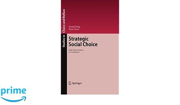 strategic social choice peleg bezalel peters hans