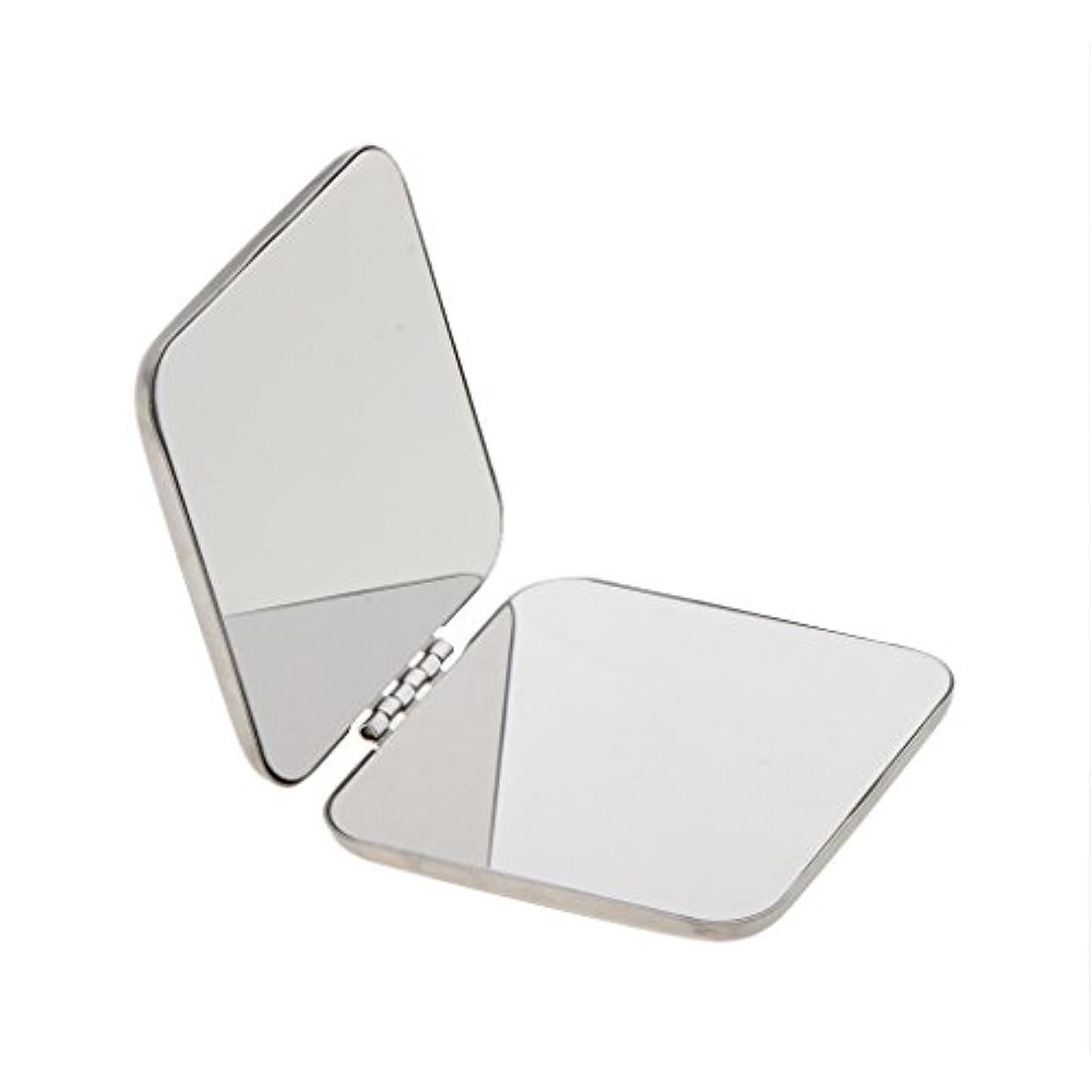 取り替える簡単に啓発するDYNWAVE コンパクトフルステンレススチールコスメティックハンドバッグメイクミラー拡大鏡