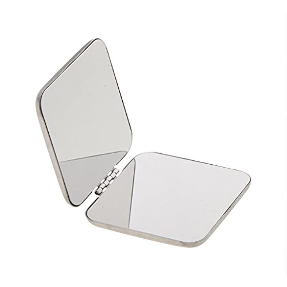 宿泊エコー処理するDYNWAVE コンパクトフルステンレススチールコスメティックハンドバッグメイクミラー拡大鏡