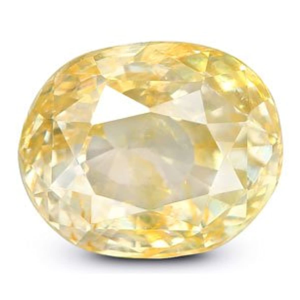 値遺産腐食するシトリン原石天然認定オーバルカットルースストーン6.9カラットby gemselect