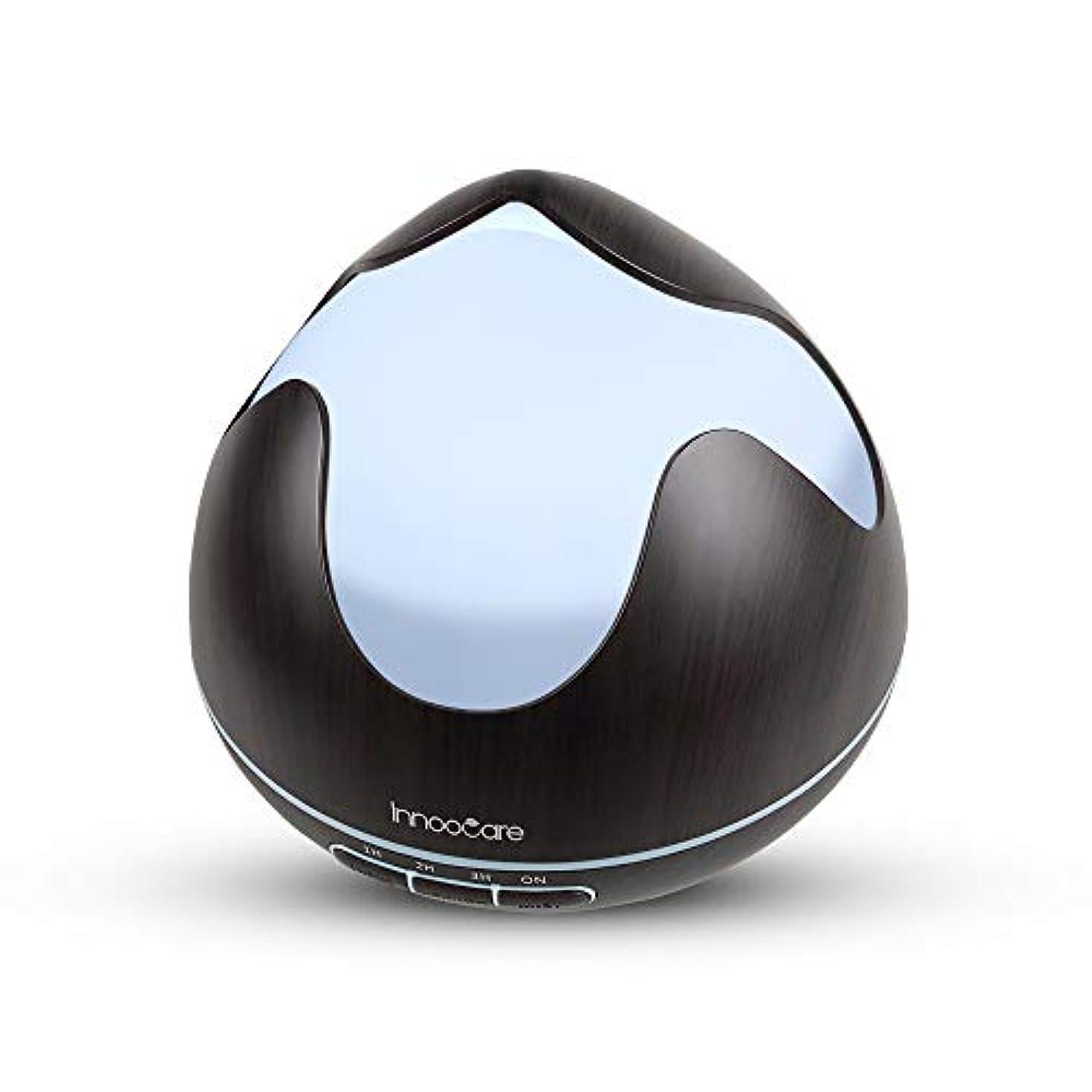 400ミリリットル超音波クールミストアロマ加湿器、アロマセラピーエッセンシャルオイルディフューザー付き7色変更LEDライト、調節可能,Deepgrain