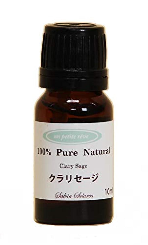 緩めるハブブ唯物論クラリセージ 10ml 100%天然アロマエッセンシャルオイル(精油)