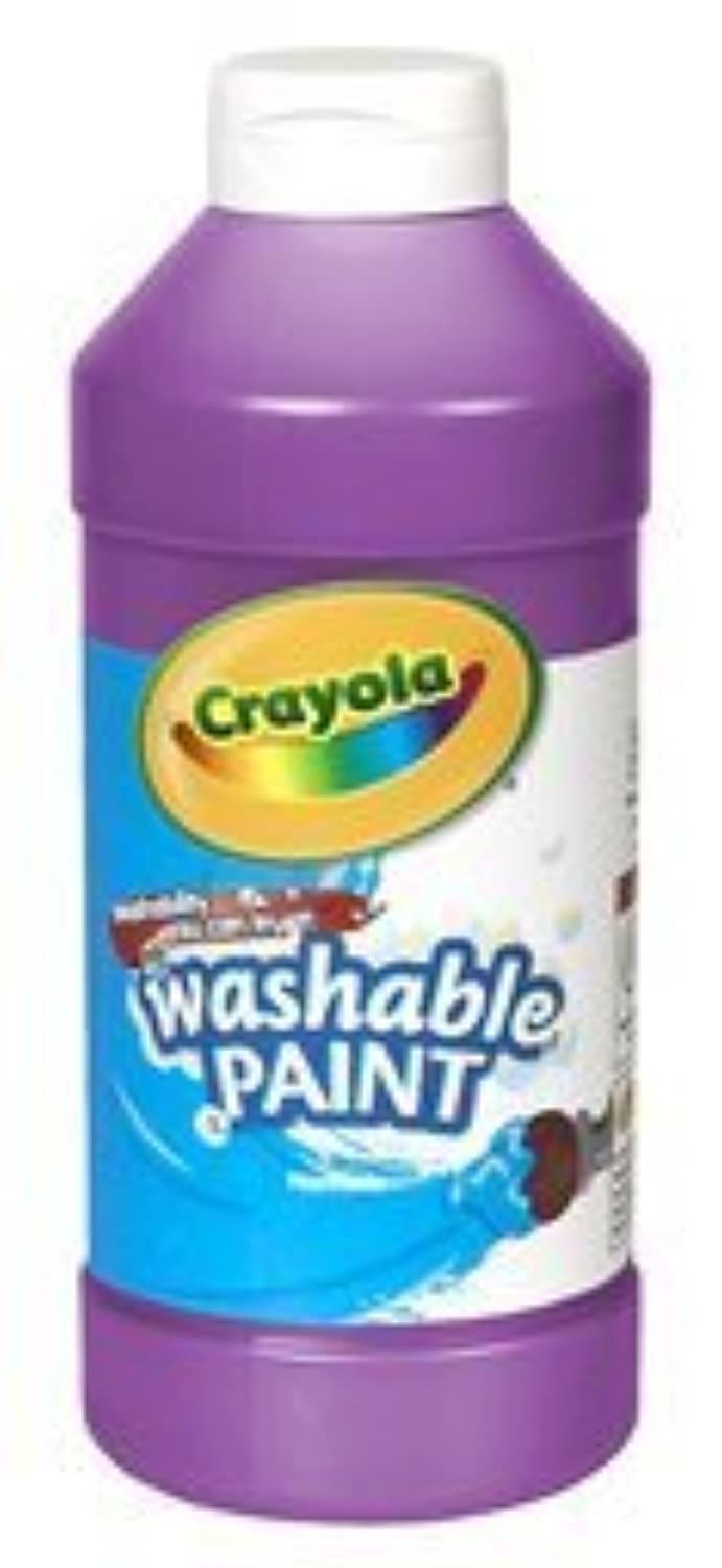 Art Supplies 201607 16 Oz. Crayola Washable Paint - Brown