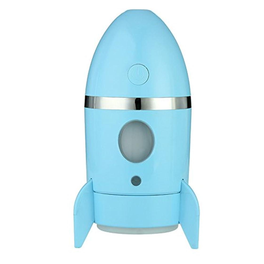 タヒチおしゃれじゃないスイッチLazayyii USBミニ加湿器 超音波 エッセンシャルオイル ミスト (ブルー)