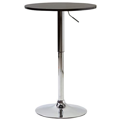 【美感スタイリッシュ 昇降式バーテーブル】(直径60cm)使いやすい安定したカウンターテーブル お洒落なBARテーブル 丸テーブル 立食用でもOK 人に高さを合わせる円テーブル (ブラック色)