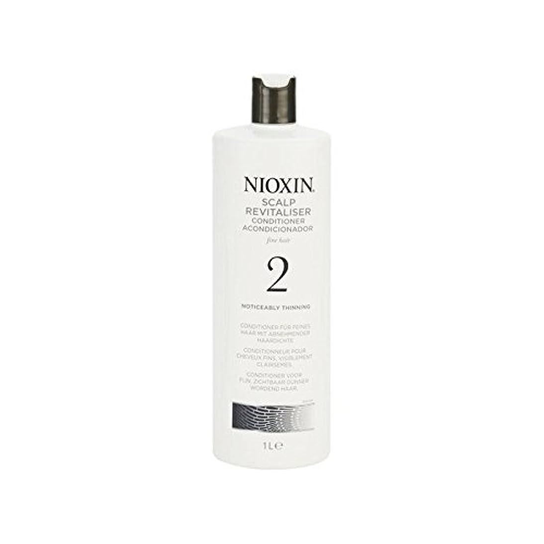 著しく間伐自然な髪千ミリリットルのためのニオキシンシステム2頭皮コンディショナー x2 - Nioxin System 2 Scalp Revitaliser Conditioner For Noticeably Thinning...