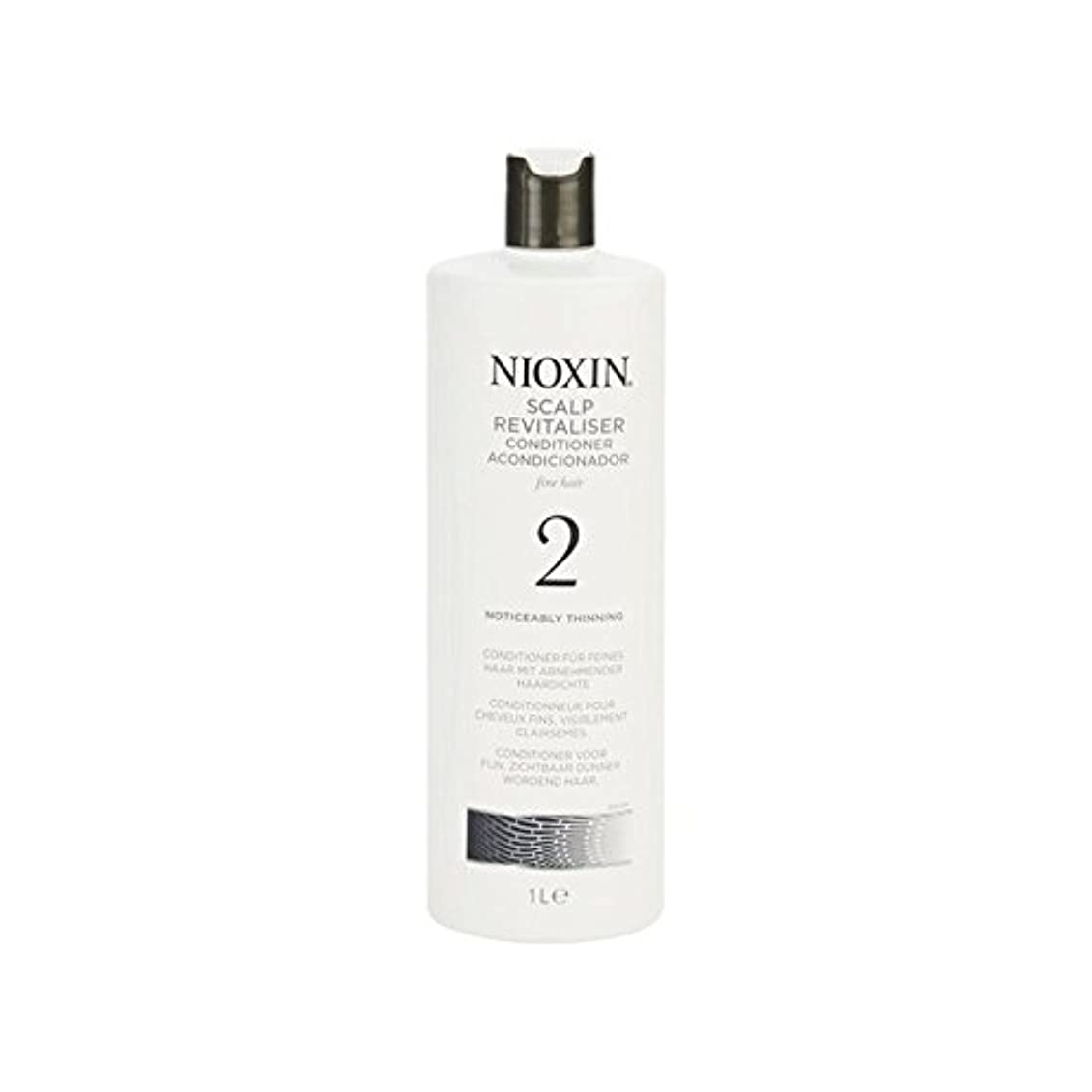 アクセスフライトエキスパート著しく間伐自然な髪千ミリリットルのためのニオキシンシステム2頭皮コンディショナー x2 - Nioxin System 2 Scalp Revitaliser Conditioner For Noticeably Thinning...