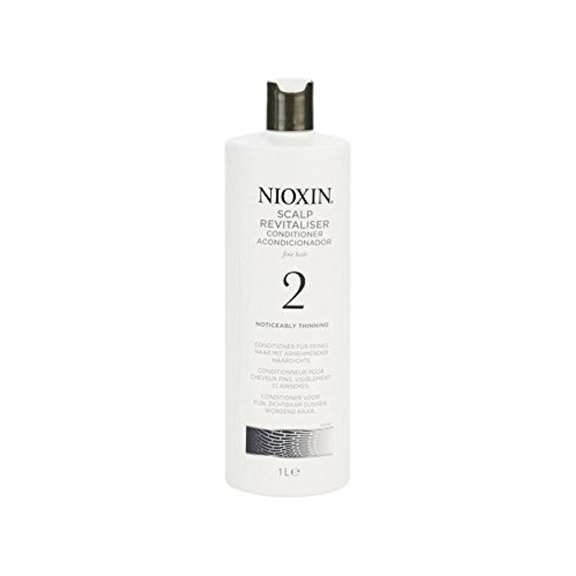 リンスブランチ敷居Nioxin System 2 Scalp Revitaliser Conditioner For Noticeably Thinning Natural Hair 1000ml (Pack of 6) - 著しく間伐自然...