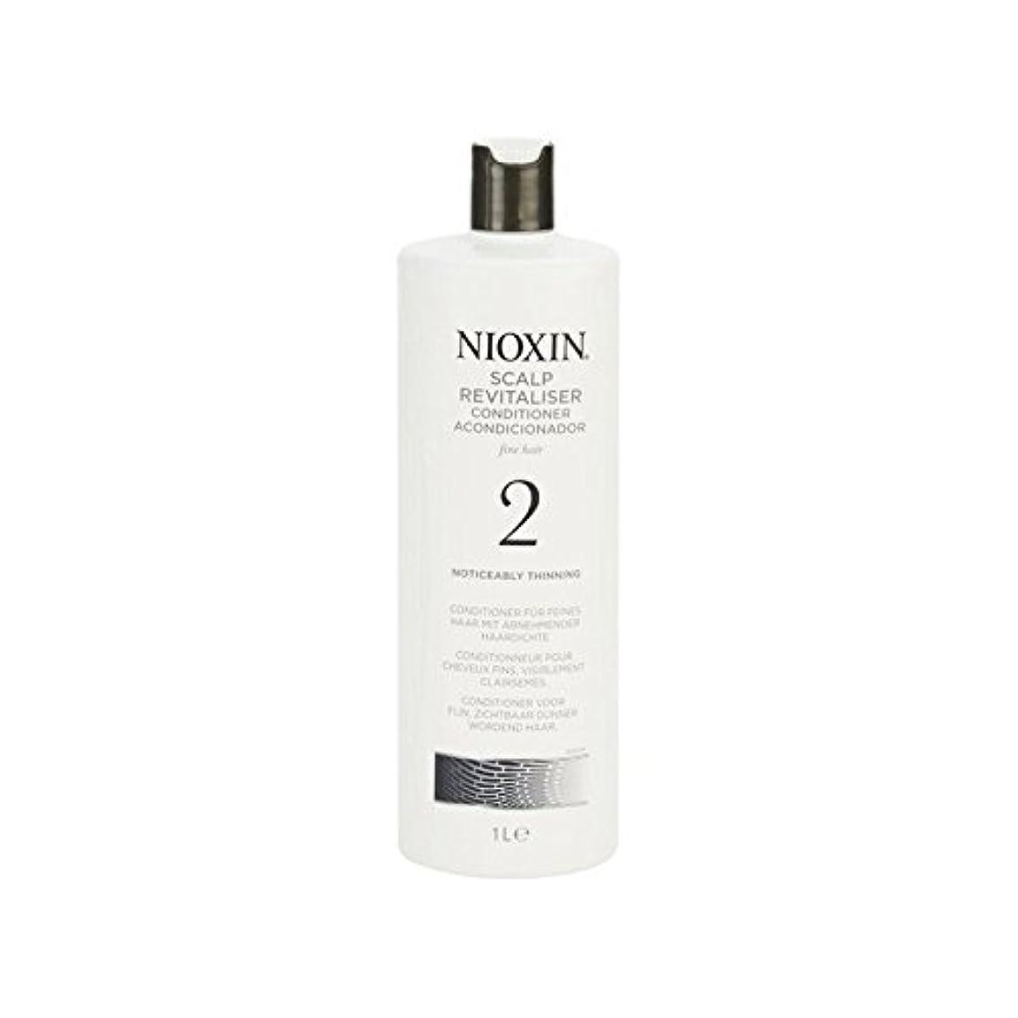 ジェット成分安らぎ著しく間伐自然な髪千ミリリットルのためのニオキシンシステム2頭皮コンディショナー x2 - Nioxin System 2 Scalp Revitaliser Conditioner For Noticeably Thinning...
