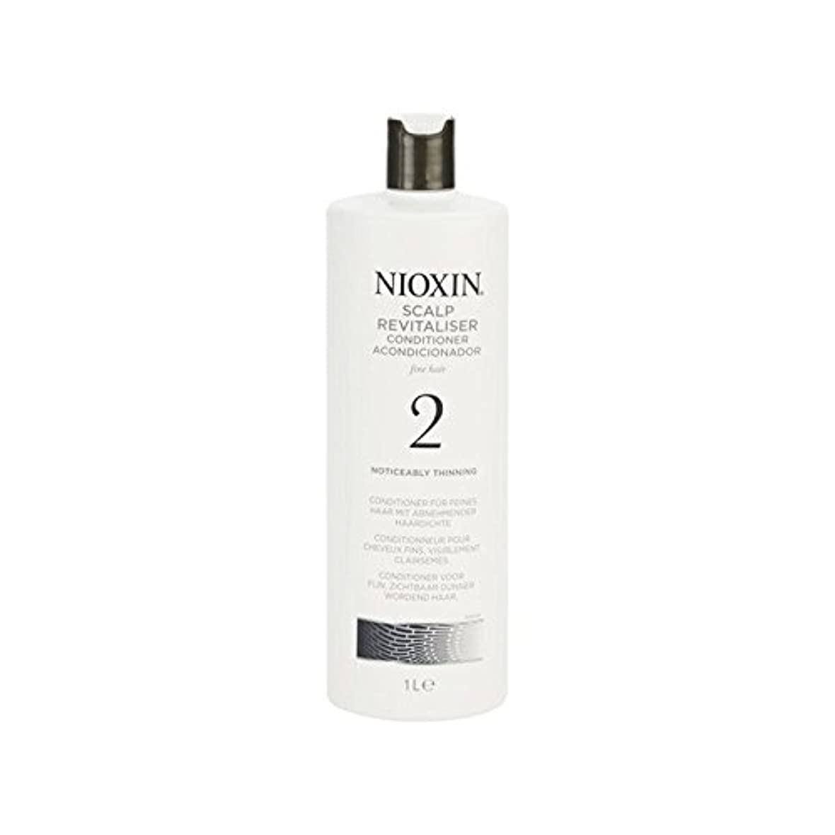 Nioxin System 2 Scalp Revitaliser Conditioner For Noticeably Thinning Natural Hair 1000ml (Pack of 6) - 著しく間伐自然...
