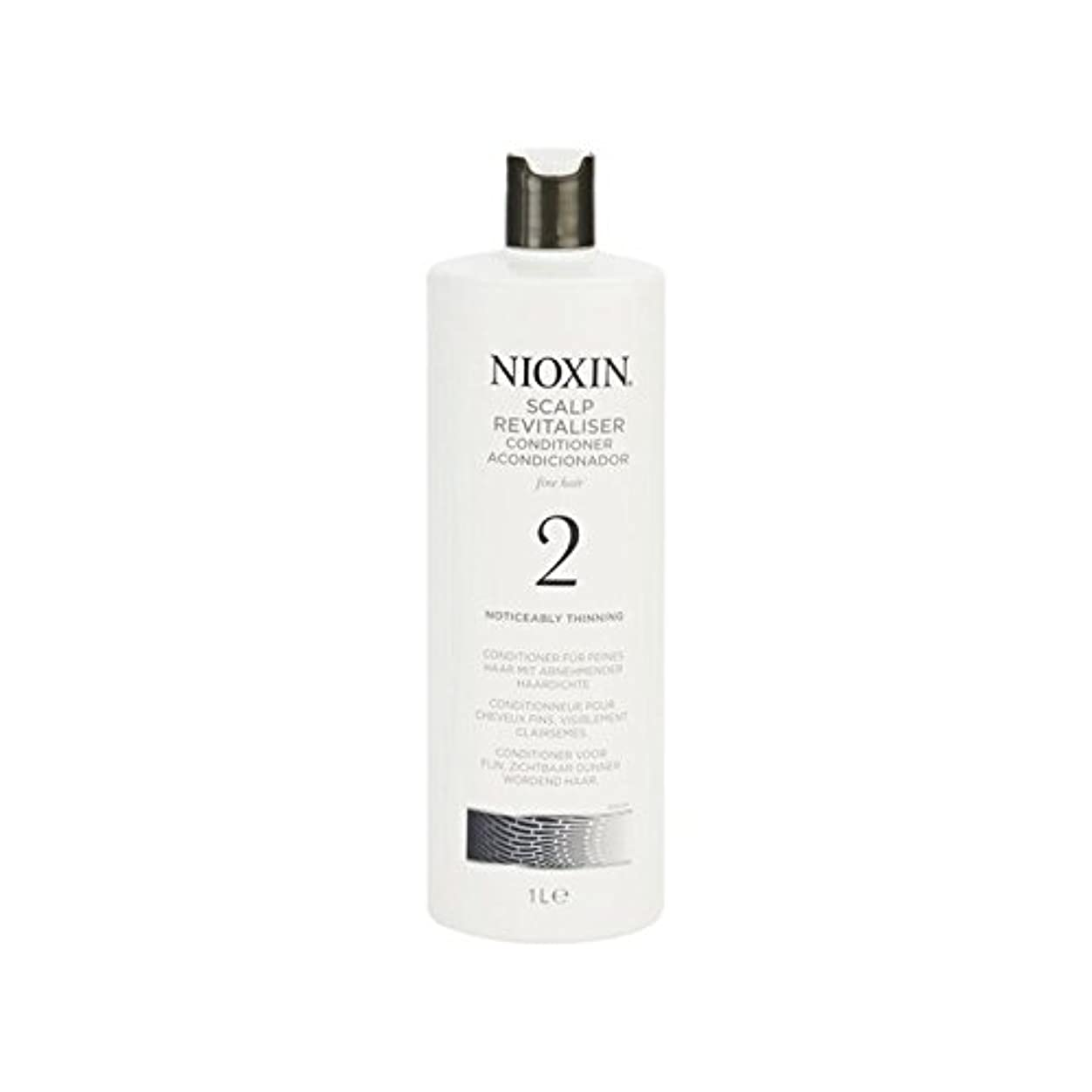 世界の窓バスルーム方言Nioxin System 2 Scalp Revitaliser Conditioner For Noticeably Thinning Natural Hair 1000ml - 著しく間伐自然な髪千ミリリットルのための...