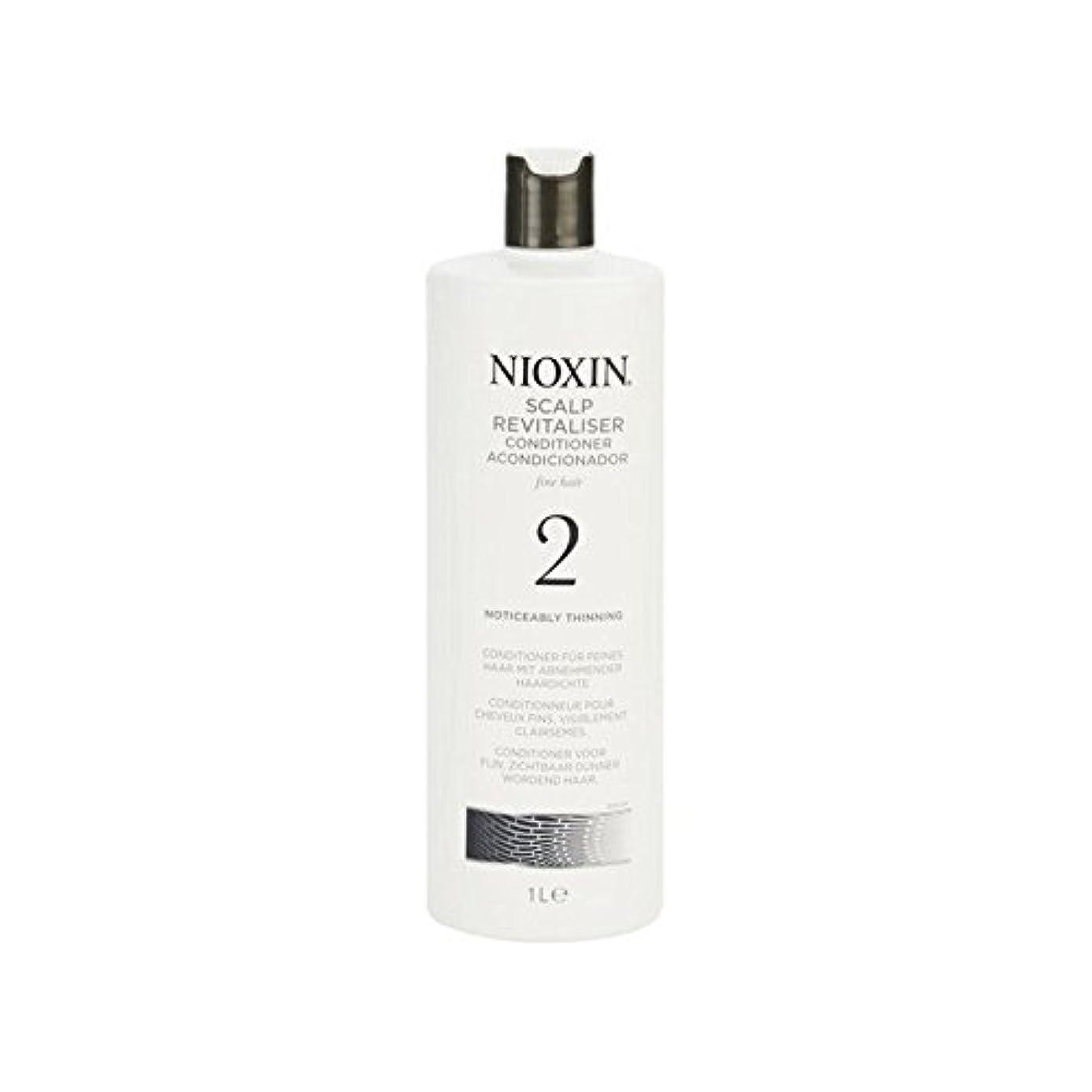 バイオリニスト弁護人把握Nioxin System 2 Scalp Revitaliser Conditioner For Noticeably Thinning Natural Hair 1000ml (Pack of 6) - 著しく間伐自然...