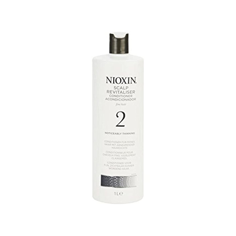 差別化する宿不実著しく間伐自然な髪千ミリリットルのためのニオキシンシステム2頭皮コンディショナー x2 - Nioxin System 2 Scalp Revitaliser Conditioner For Noticeably Thinning...