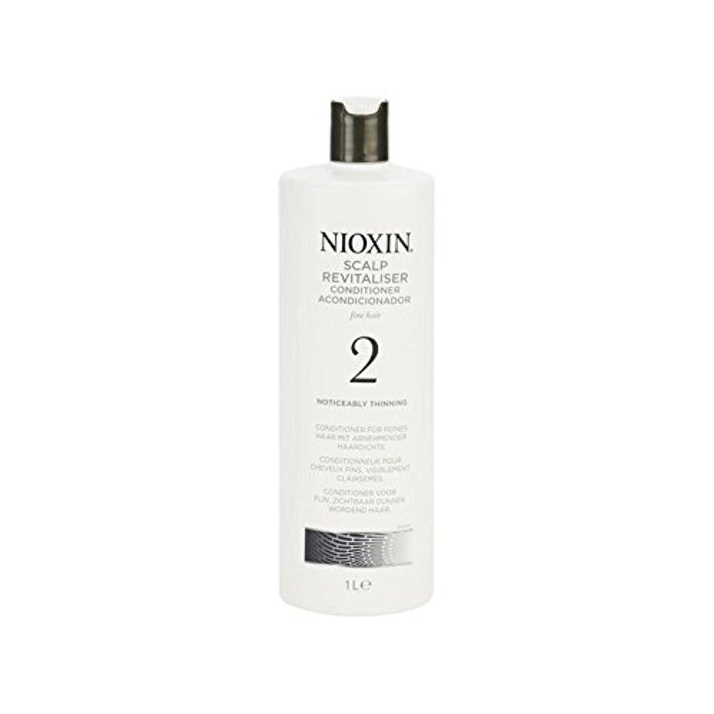 集中的な現在憂鬱Nioxin System 2 Scalp Revitaliser Conditioner For Noticeably Thinning Natural Hair 1000ml (Pack of 6) - 著しく間伐自然...