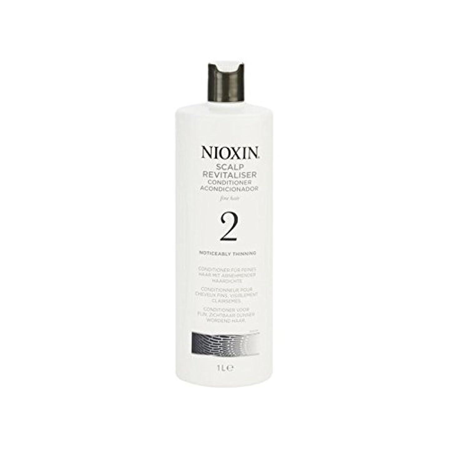 マリンほんの郡Nioxin System 2 Scalp Revitaliser Conditioner For Noticeably Thinning Natural Hair 1000ml (Pack of 6) - 著しく間伐自然...