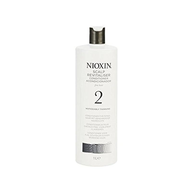 肯定的怖がらせる圧力Nioxin System 2 Scalp Revitaliser Conditioner For Noticeably Thinning Natural Hair 1000ml (Pack of 6) - 著しく間伐自然...