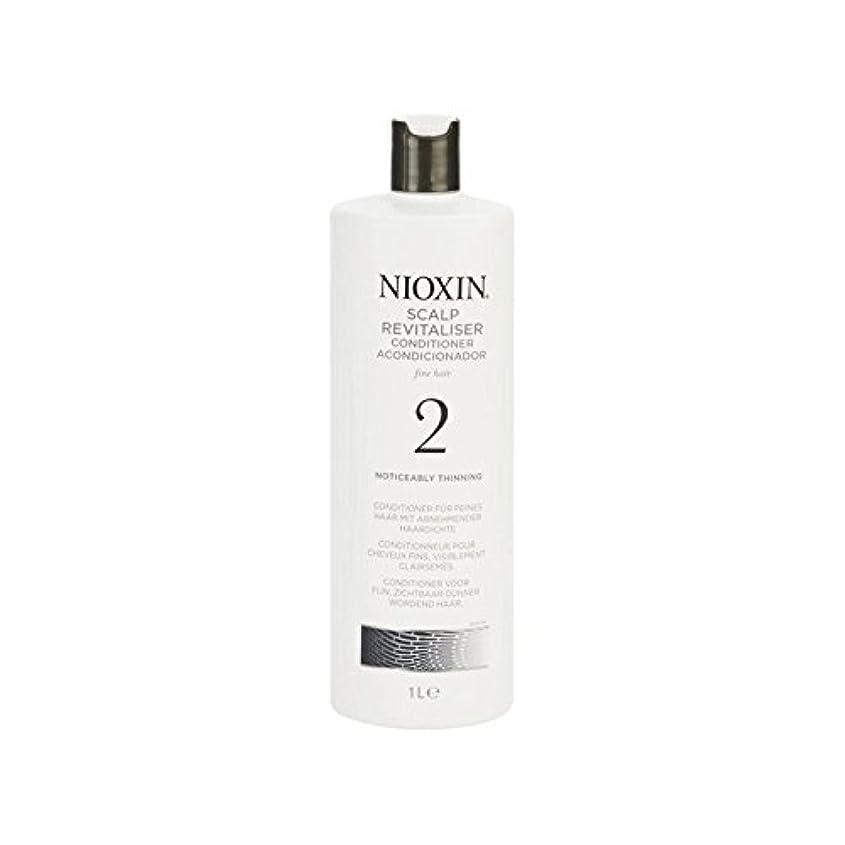 回転悪の寓話Nioxin System 2 Scalp Revitaliser Conditioner For Noticeably Thinning Natural Hair 1000ml (Pack of 6) - 著しく間伐自然...