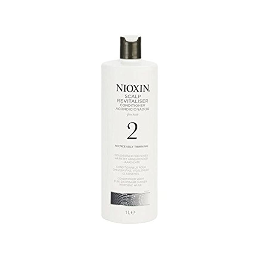 マダム不安定ペルメル著しく間伐自然な髪千ミリリットルのためのニオキシンシステム2頭皮コンディショナー x2 - Nioxin System 2 Scalp Revitaliser Conditioner For Noticeably Thinning...
