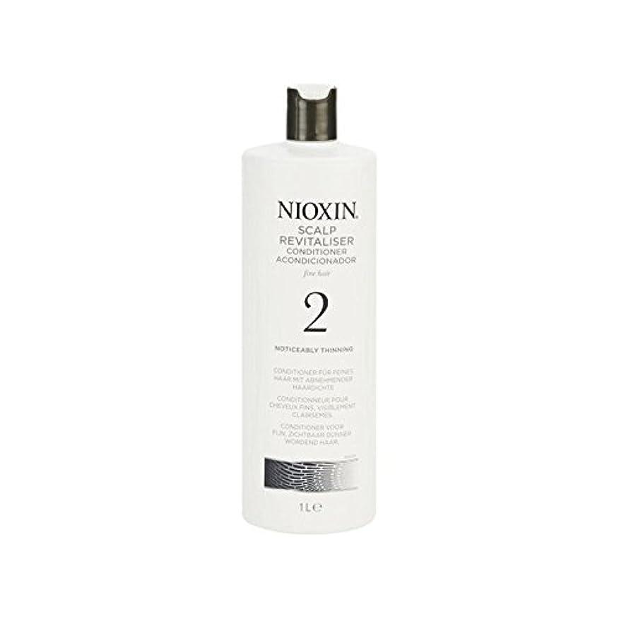 無臭閃光征服するNioxin System 2 Scalp Revitaliser Conditioner For Noticeably Thinning Natural Hair 1000ml (Pack of 6) - 著しく間伐自然...