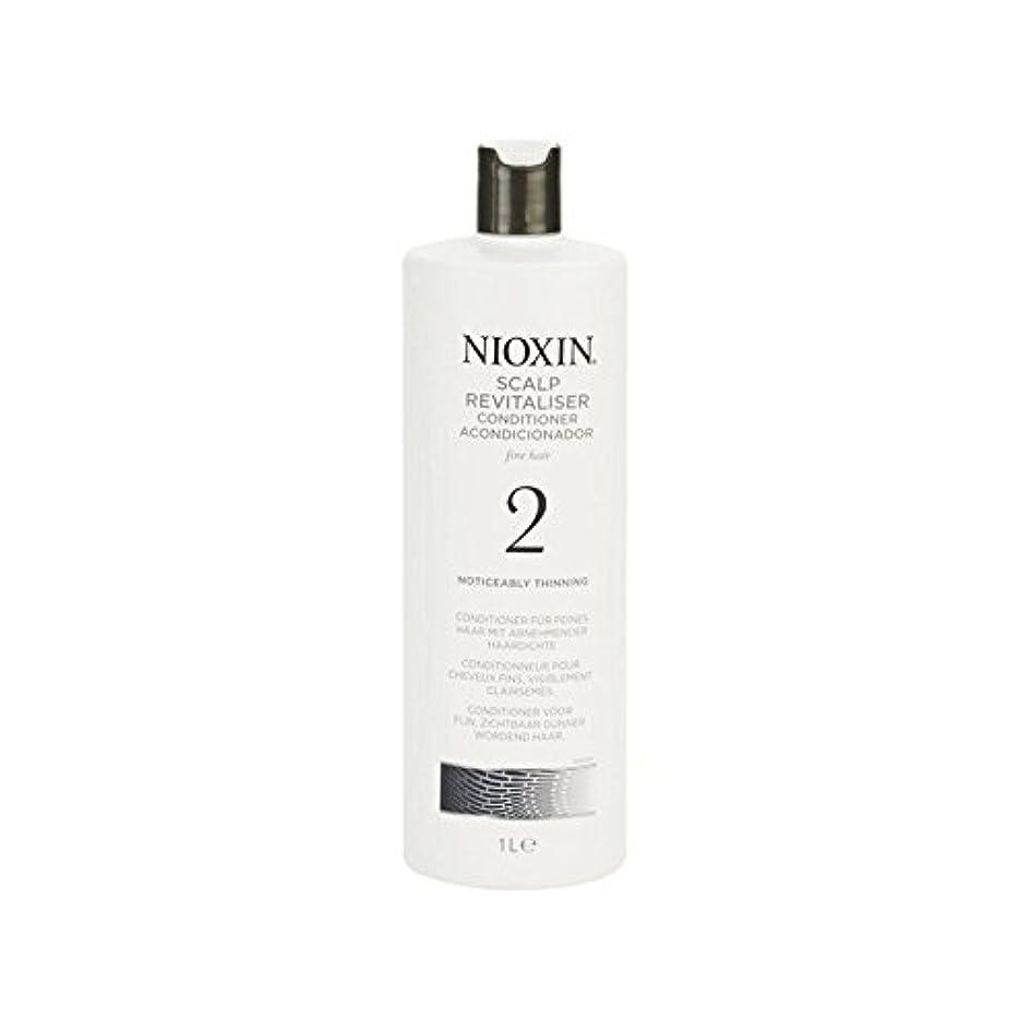 レース政権局Nioxin System 2 Scalp Revitaliser Conditioner For Noticeably Thinning Natural Hair 1000ml (Pack of 6) - 著しく間伐自然...