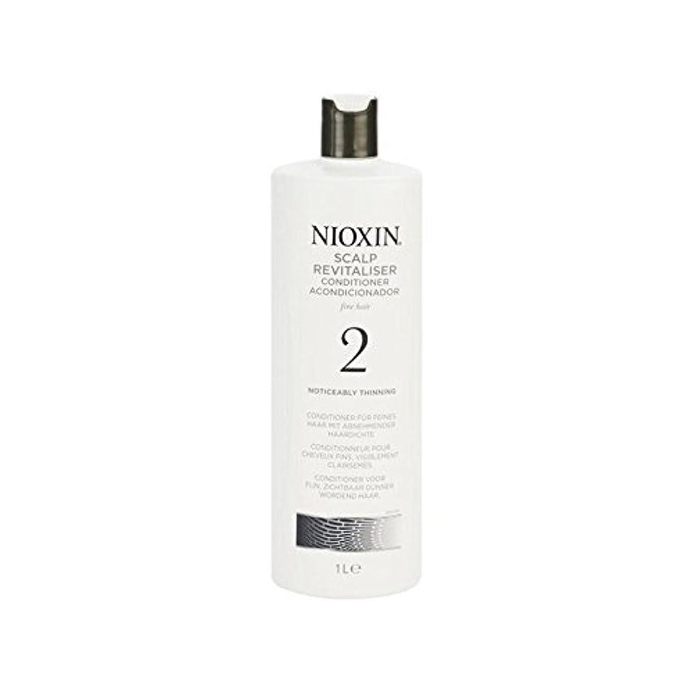 姪威する広範囲に著しく間伐自然な髪千ミリリットルのためのニオキシンシステム2頭皮コンディショナー x2 - Nioxin System 2 Scalp Revitaliser Conditioner For Noticeably Thinning...