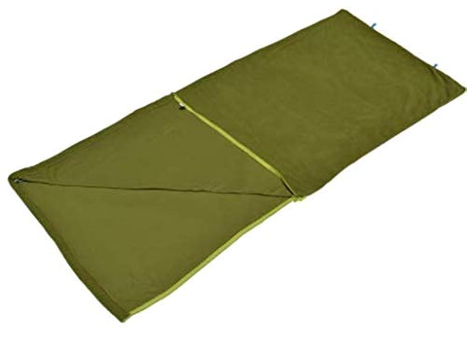 ごみ可塑性トランペットKYAWJY 春と秋の超軽量封筒大人の寝袋フリース布ライナーキャンプ寝袋便利なキャンプ寝袋
