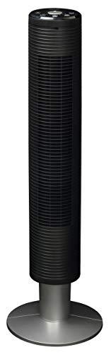 山善 扇風機 スリムファン タッチスイッチ 風量6段階調節  静音モード DCモーター搭載 入切タイマー機能 リモコン付 ブラック YSR-UD903(B)