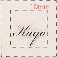 名前 ネイルシール【アルファベット・イニシャル】デザイン( Kayo かよ)1シート6枚入