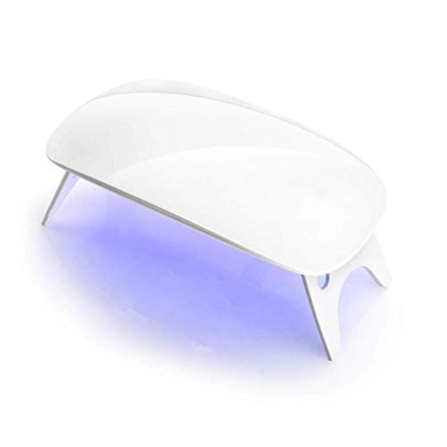 鯨行進口述LEDネイルドライヤー UVライト 折りたたみ式 設定可能 タイマホワイト