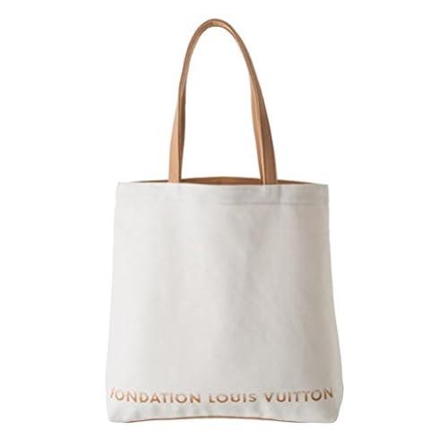 ルイヴィトン財団 美術館 限定 FONDATION LOUIS VUITTON トートバッグ バッグ ホワイト 並行輸入品