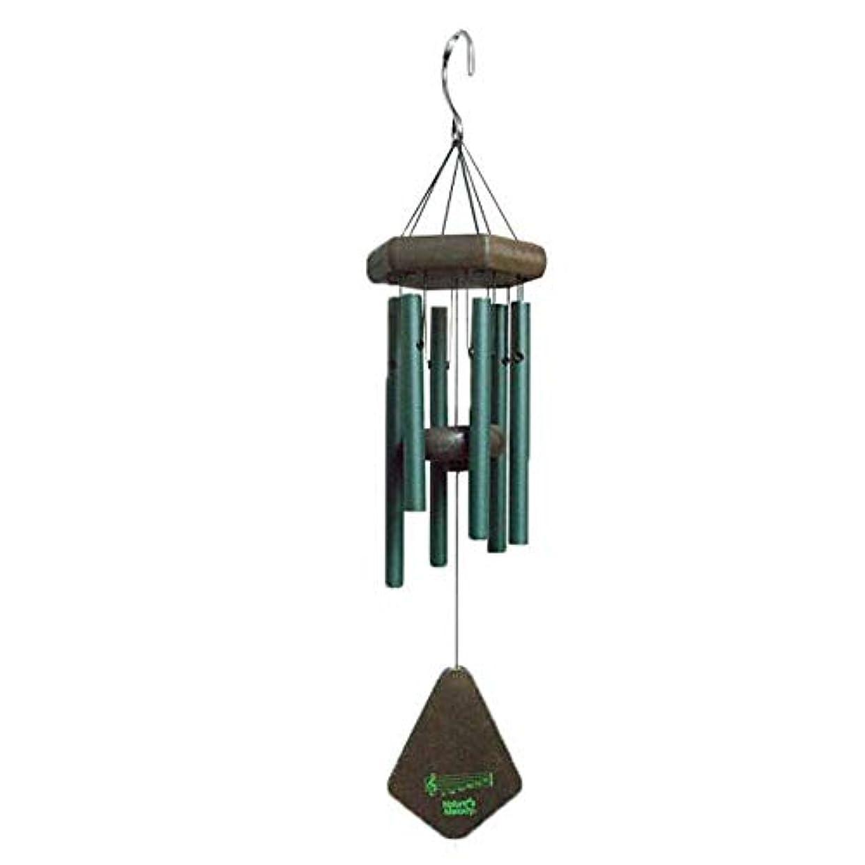 影のある処方するパターンJielongtongxun 風チャイム、メタル6チューブ風の鐘、ブラック、全身について52CM,絶妙な飾り (Color : Green)