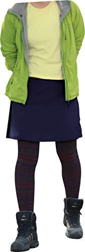 [LAD WEATHER]トレッキング スカート キュロット はっ水 防汚 防油 速乾 耐久性 スポーツ アウトドア レディース (M, ネイビー)