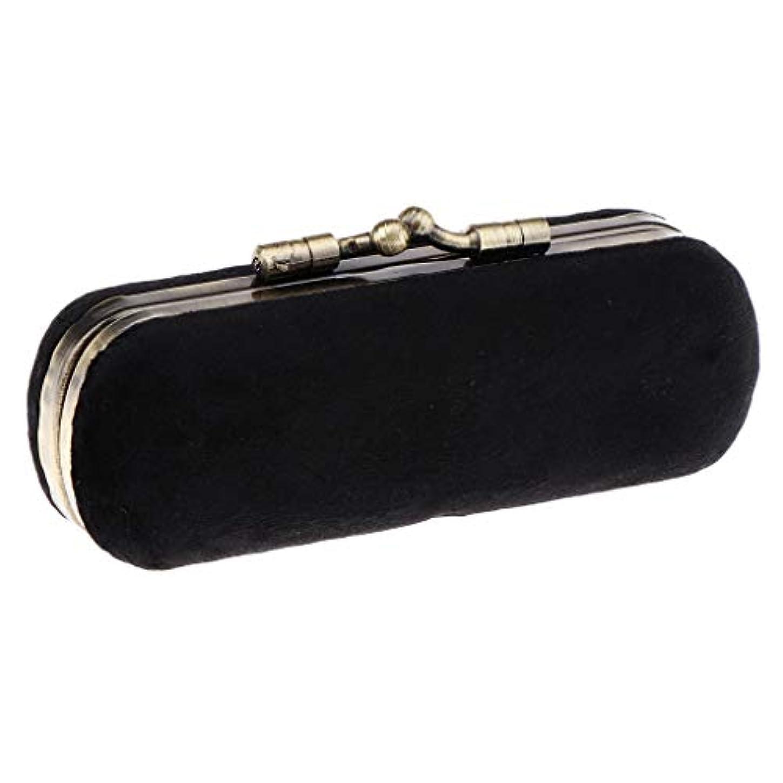 アテンダント分注する連邦口紅ホルダー 空箱 メイクボックス 化粧ポーチ 化粧ケース 収納ボックス 全8色 - ブラック