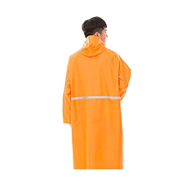 子供達作ります上向きJTWJ ロングレインコート - 成人用ワンピースポンチョ、男女用屋外ハイキングレインコート(イエロー/オレンジ) (色 : Orange, サイズ さいず : XXXXL)