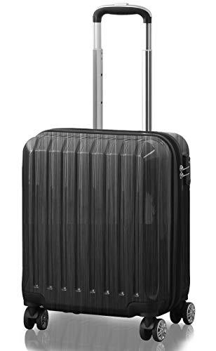 TSAロック搭載 スーツケース 機内持込 ダブルキャスター 鏡面ヘアライン仕上げ トラベルキャリーケース リブ構造 ポリカーボ樹脂 軽量 耐衝撃 容量拡張機能 ダブルファスナー