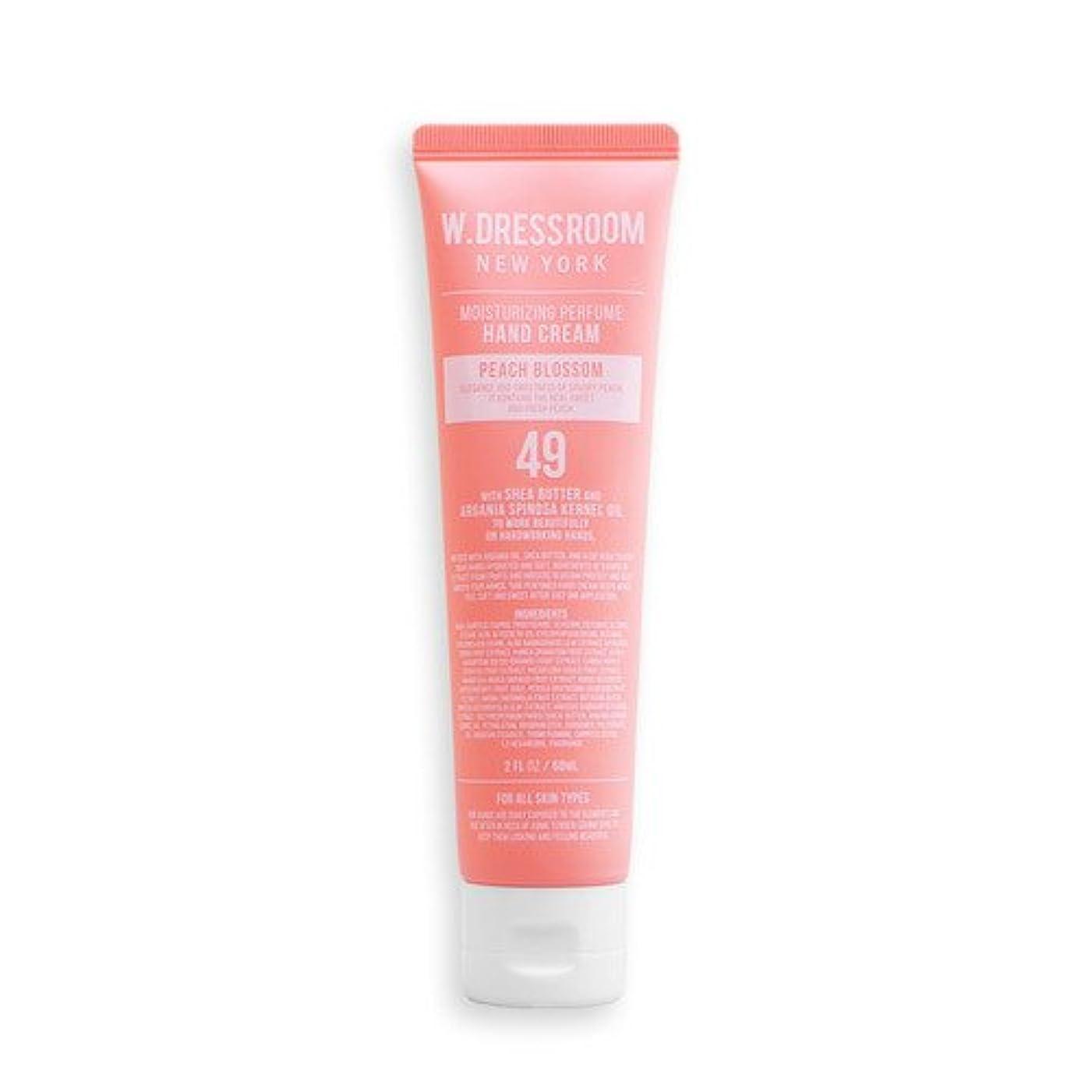 飼料同等の六月W.DRESSROOM Moisturizing Perfume Hand Cream 60ml/ダブルドレスルーム モイスチャライジング パフューム ハンドクリーム 60ml (#No.49 Peach Blossom) [並行輸入品]