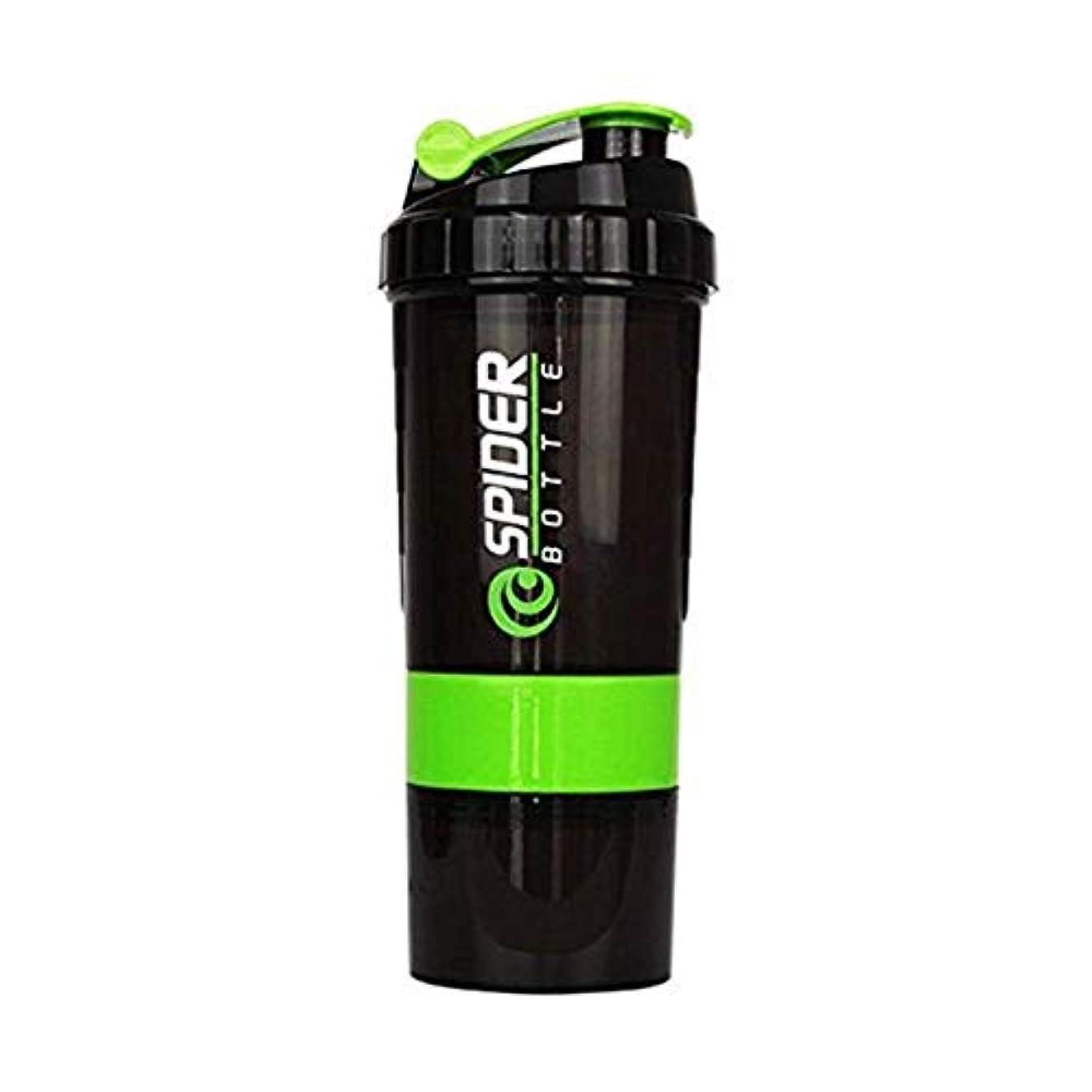 医学一晩憂慮すべきプロテインシェイカー シェーカーボトル フィットネス用 グリーン 500ml