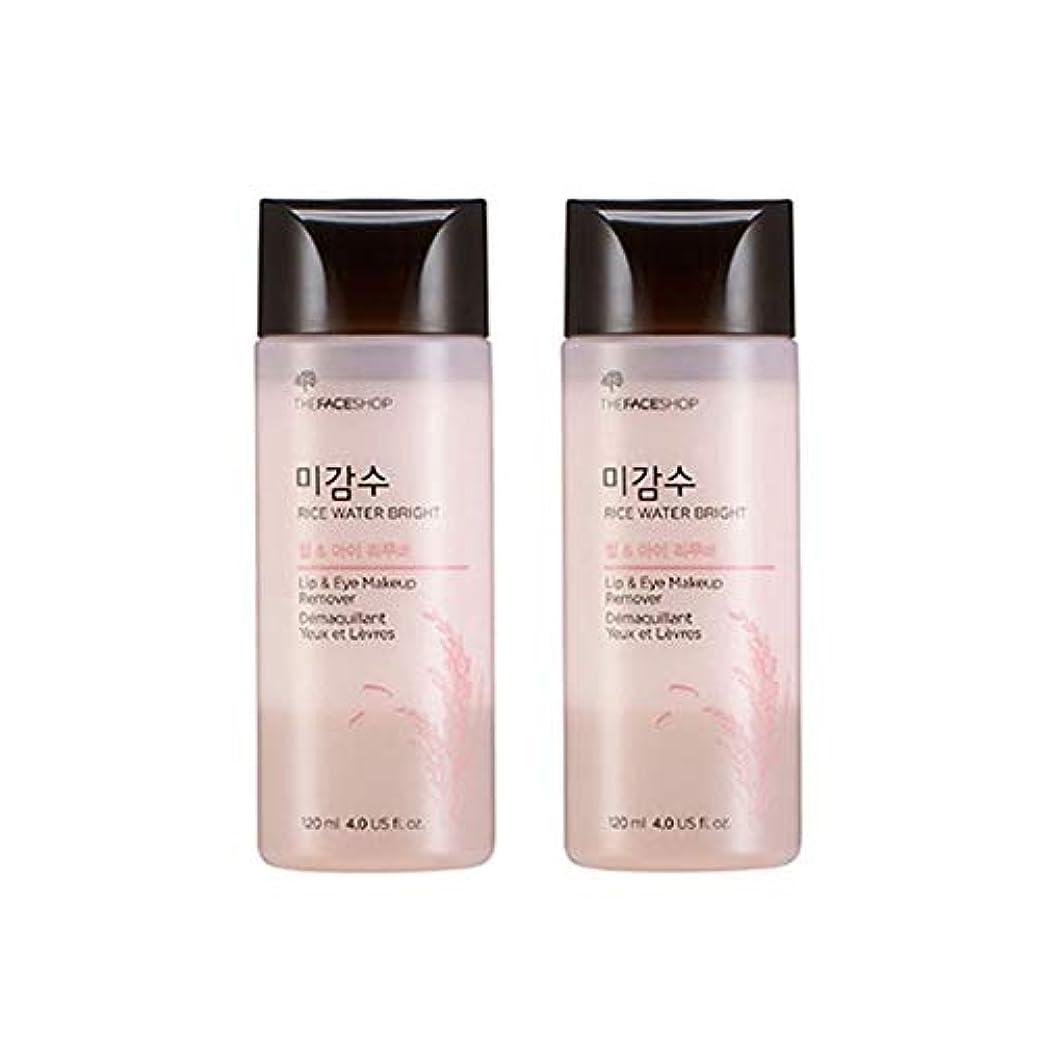 ジョリー東売るザ・フェイスショップ米感水ブライトリップ&アイリムーバー120ml x 2本セット韓国コスメ、The Face Shop Rice Water Bright Lip&Eye Remover 120ml x 2ea Set Korean Cosmetics [並行輸入品]