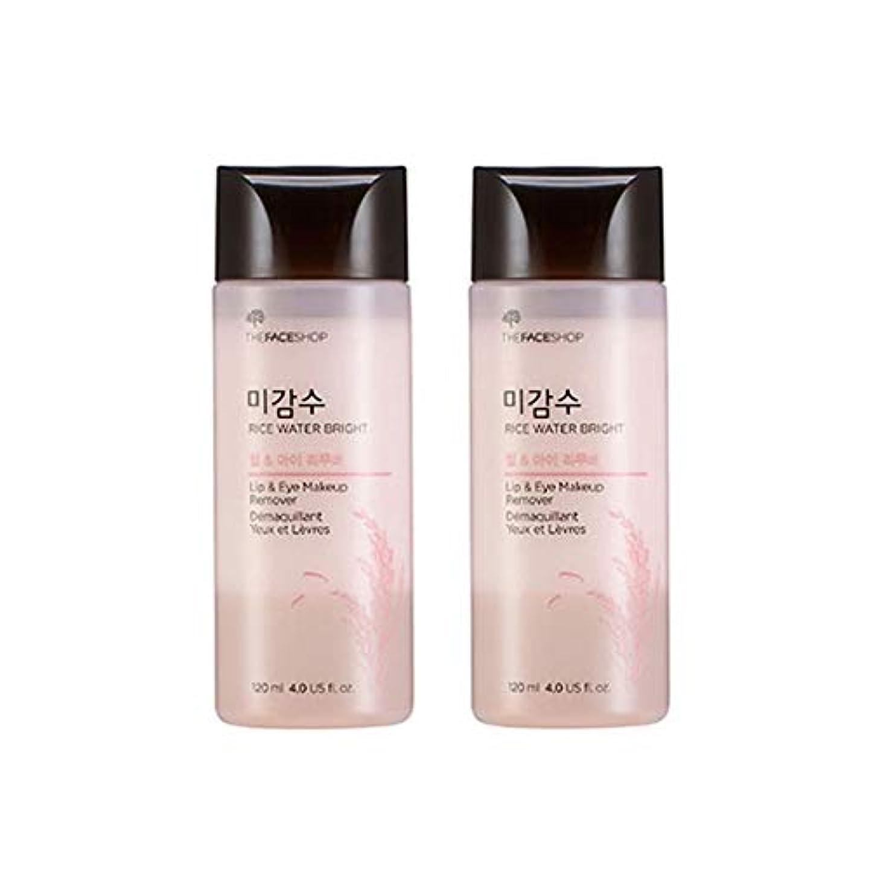 オートマトン結び目フリースザ?フェイスショップ米感水ブライトリップ&アイリムーバー120ml x 2本セット韓国コスメ、The Face Shop Rice Water Bright Lip&Eye Remover 120ml x 2ea Set Korean Cosmetics [並行輸入品]