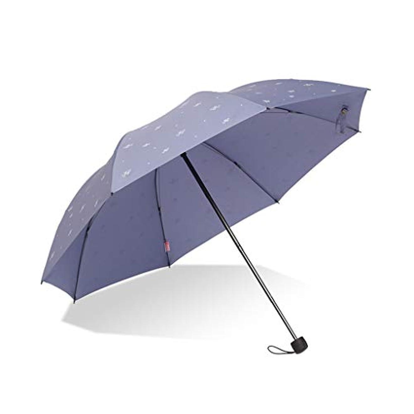 後悔死すべき不定レッドリーフアンブレラダブルアンブレラ折りたたみ傘メンズ大補強傘シンプルクリエイティブ小さな新鮮な (色 : B)