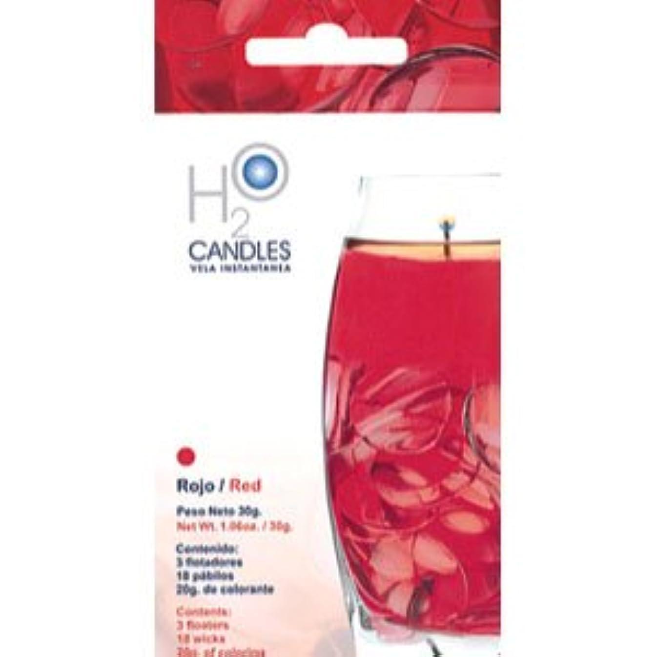 書誌高尚な市場H2Oキャンドル (ウォーターキャンドル) RED